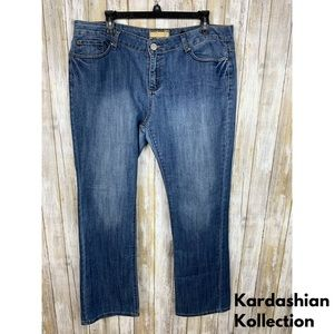 Kardashian Kollection 'Kim' Bootcut Denim Jeans